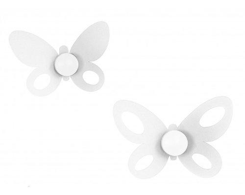 Set Ganci Butterfly Bianco 2pz