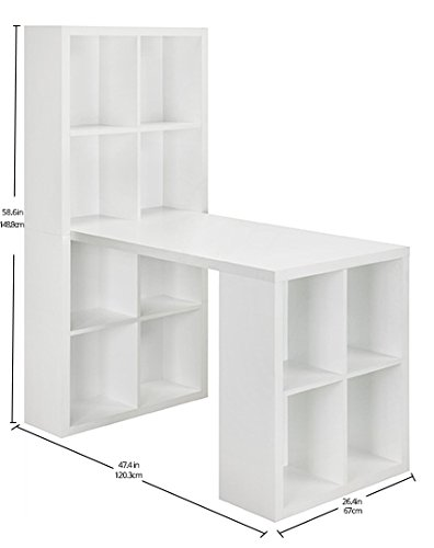 029986935823 - Ameriwood Home London Hobby Desk, White carousel main 5
