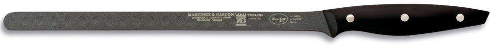 Walter 4789 Teflon 11-3/5-Inch (29.5 cm) Salmon Knife with Black Handle