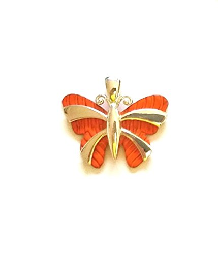 Colorized Jewelry Two Tone silver Butterfly-shaped Le Papillion Women Necklace Pendant With 18