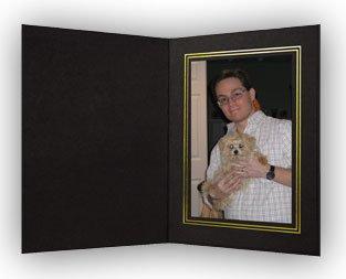 Black/Gold Cardboard Photo Folder 4x6 - Pack of 100 (Cardboard Photo Frames)