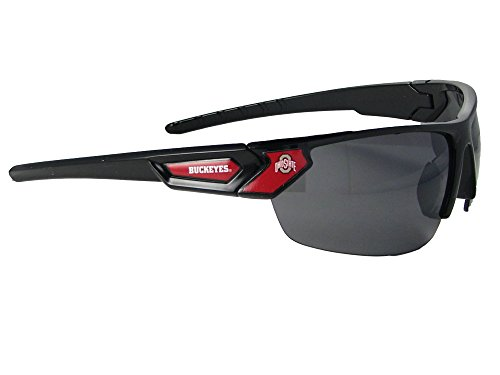 Ohio State Buckeyes Black Red Sport Sunglasses OSU Licensed Gift - Ohio Sunglasses