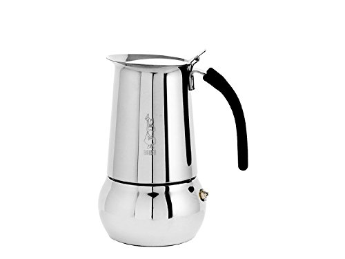 Bialetti Stovetop Cappuccino Maker - Bialetti 06661 Kitty Espresso Coffee Maker, Stainless Steel, 6 cup
