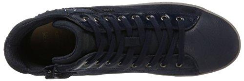 Geox J Kalispera E, Zapatillas Altas Unisex Adulto Azul (Navy)