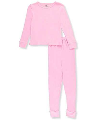 Ice2O Big Girls' 2-Piece Thermal Long Underwear Set - Pink, (Girls Long Sleeved Thermal)