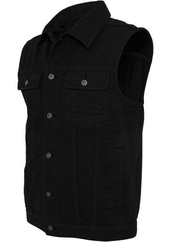 Urban Classics Gr. XL Herren Denim Vest TB 514 Regular Fit Black Raw