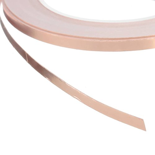Qingsun Copper Conductive Adhesive Tape,Shielding for Electric Bass Guitar Pickups Copper Foil Tape Conductive Adhesive(5mm20m) by Qingsun