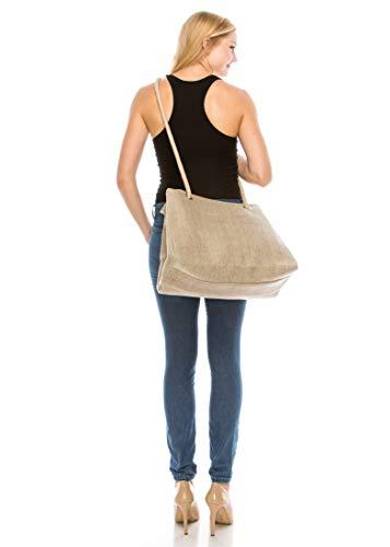 294d403f41 Tibes Casual Women Large Canvas Handbag Travel Shoulder Purse Beach Tote
