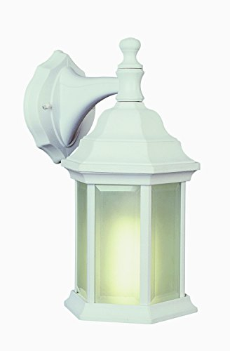 Trans Globe Lighting 4349-PL WH 12-1/2-Inch 1-Light Outdoor Wall Lantern, White ()