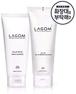 LAGOM Cellup Gel to Water Cleanser 220ml + Cellup Micro Foam Cleanser 150ml Set