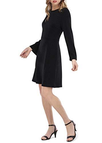 - Our Heritage Women's Dress Women's Black Midi Long Sleeve Skater Dress (M)