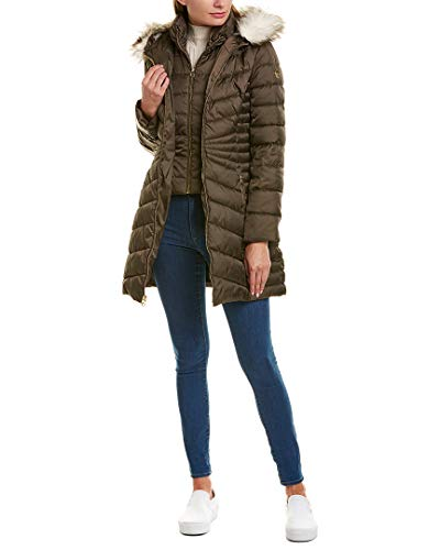 Laundry by Shelli Segal Womens Puffer Coat, M, Brown
