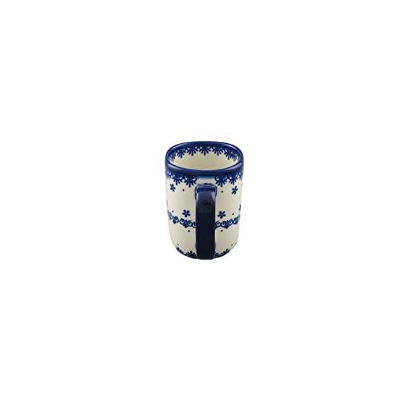 Boleslawiec Style Pottery Hand Painted Polish Ceramic Szwed Mug 058-C-008
