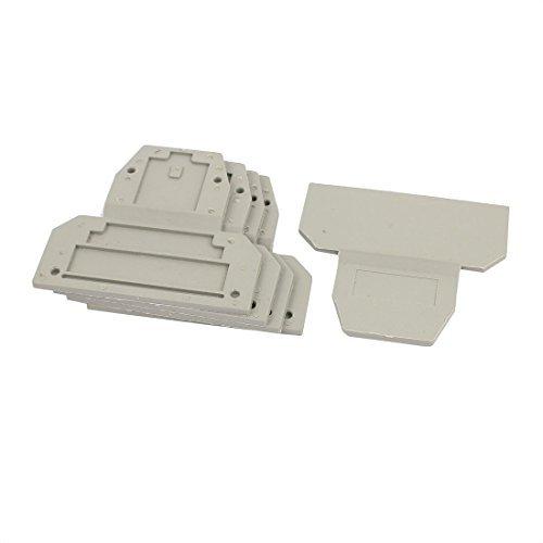 eDealMax UKK3 / UKK5 electrnico plstico del bloque de terminales del carril extremo de la placa gris 5pcs