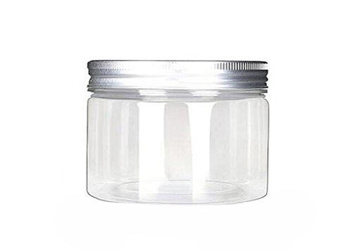 6PCS 120ml 4oz Empty Plastic Clear Cosmetic Makeup Jar Pot Containers Case with Silver Aluminum Lid Food Jar Cream Lotion Box Ointments Bottle
