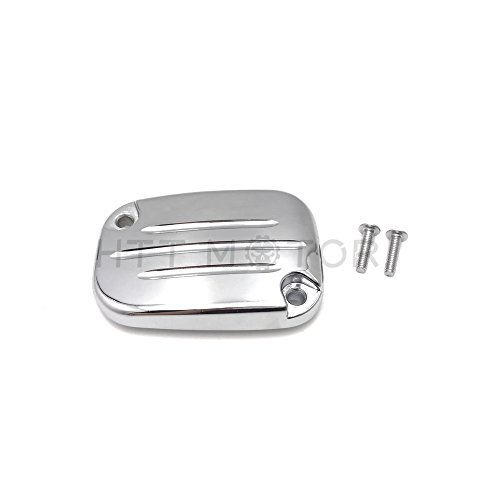 (Chrome Hydraulic Clutch Master Cylinder Cover Top Lid For 14-16 Harley)