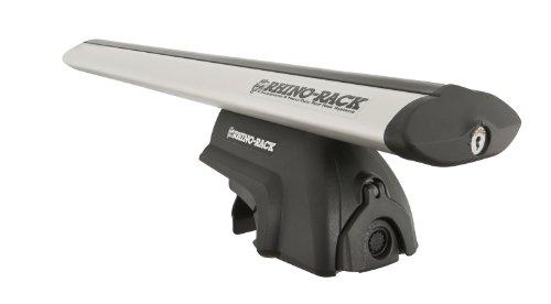 Rhino Rack Aero Crossbars Removable Rail Mount Rack with Flush Mount for BMW X5 11-12-Feet, Silver, SRB008