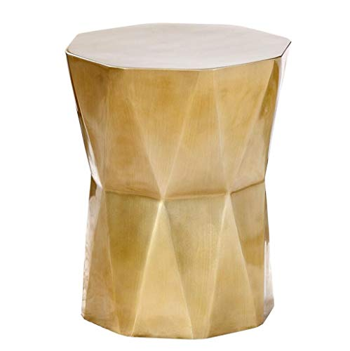 DTY Cabinet Geometric Polygon Coffee Table Living Room Leisure Mobile Side Table Personality Art Creative Home Decoration (Color : Brass) ()