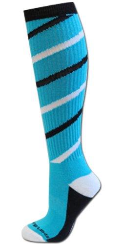 Twister Socks Turquoise/Black/White S/M