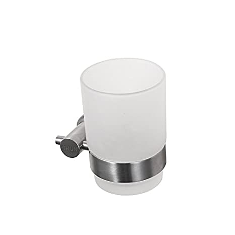 Hardwareh Cepillo de Acero Inoxidable 304 Cup Frame, Único de Vidrio, Vidrio, Taza