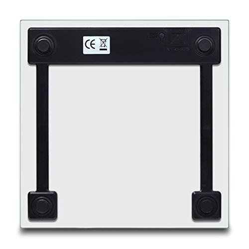 Nrpfell Scala Elettronica Dellequilibrio dellAcciaio Inossidabile 180kg di Vetro Temperato Portatile della Scala di Peso Elettronica di Digital per I Bambini Adolescente Adulto