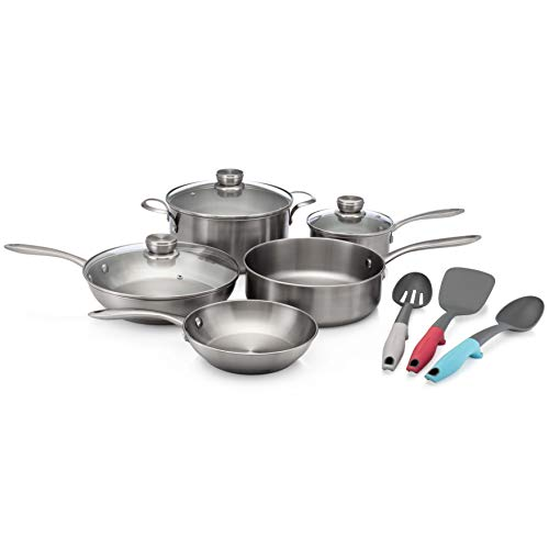 Frigidaire 11FFSPAN03 Ready Cook Cookware, 11-Piece, Stainless Steel, 11 Pieces