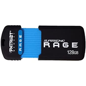 Patriot 128GB Supersonic Rage Series USB 3.0 Flash Drive With Up To 180MB/sec- PEF128GSRUSB