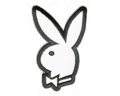 (Bunny With Bow Playboy Sexy Embroidered Motorcycle NEW Biker Vest Patch PAT-3080)