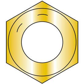 1 3/8-12 Fine Thread Finished Hex Nut Grade 8 Zinc Yellow, Pkg of 50 (138NF8)