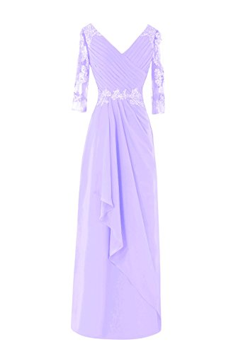 Bess Bridal Women's Formal 3/4 Long Sleeve Mother of The Bride Dresses Lilac