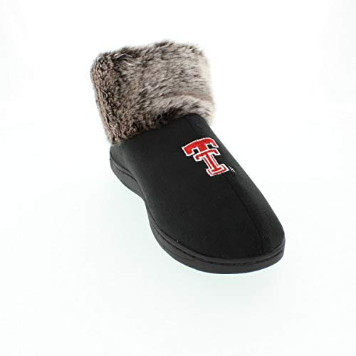 (TTU14-1 - Texas Tech Red Raiders Faux Sheepskin Fur Top Slipper Boots - Small)