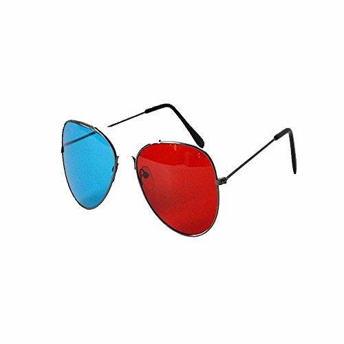 la de Película 3D Azules roja Liuxc computadora de Gafas Orquídea Azul Rojos Estéreos roja Vidrios vidrios sol gris y 3D Gris 3D y 6fqPf57