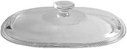 Corning Ware DC-2 12-B 2.5 Quart Oval Covered Casserole Winter White Coupe Pyrex Lid DC-1 12-C