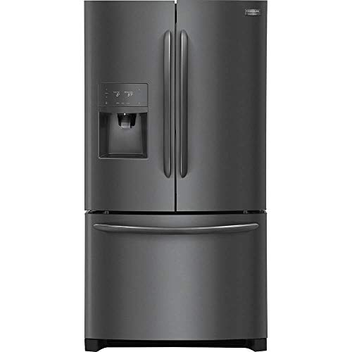 Frigidaire FGHD2368TD Gallery Series 36 Inch Counter Depth French Door Refrigerator in Black Stainless Steel