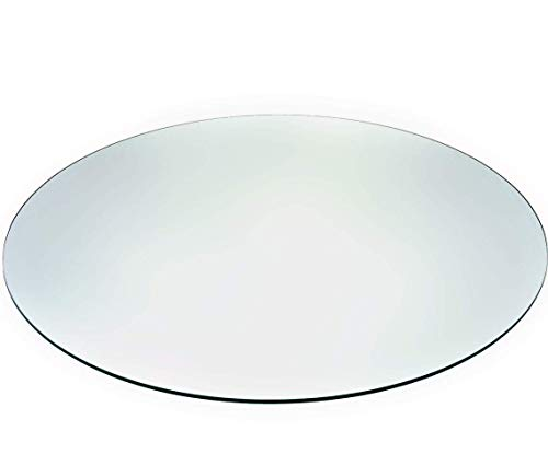 Tempered Glass Table Top with Rounded Edge 36 Round 5 16 Thickness