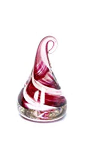 Hand Blown Glass Paperweight (Pink)