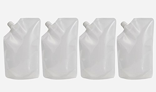Home-X Smugglers Flask. Hide Your Booze Concealable Flask   Secret Liquor Wine Cruise Travel Clear Hidden Flask Pouch   16 oz. (Set of 4)