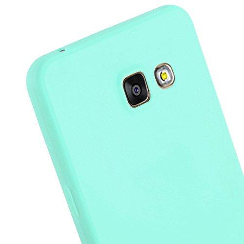 Cadorabo - Cubierta protectora Samsung Galaxy A5 (6) (Modelo 2016) de silicona TPU en diseño Candy �?Case Cover Funda Carcasa Protección en AZUL-CANDY AZUL-CANDY