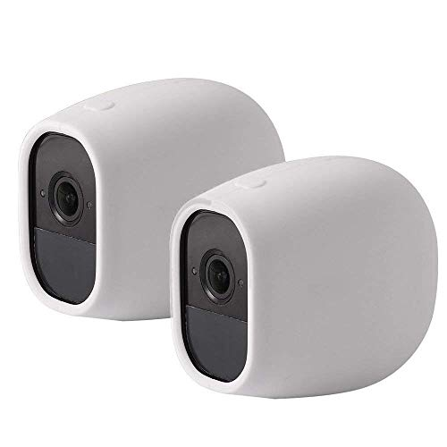 Pro White Skin Case - EEEKit Silicone Skins Protective Cover Case for Arlo Pro/Arlo Pro 2 Netgear Home Smart Security Wireless Camera (2-Pack White)