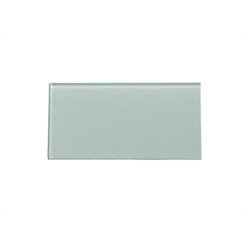 """Peel and Stick Backsplash Morning Dew Glass Backsplash Tile Sample for Kitchen and Bathrooms (3"""" x 6"""" Sample)"""