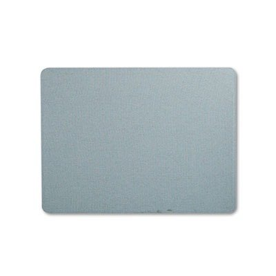 Quartet Fabric Bulletin Board, 4' x 3', Frameless, Oval Office, Light Blue (7684BE)