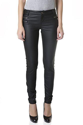 5 Pocket Leather Jeans - 5