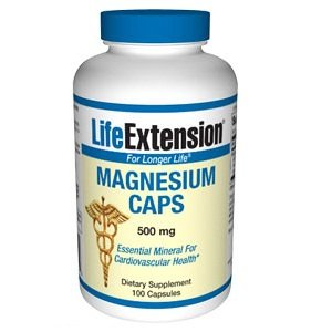Capsules 500mg de magnésium Life Extension, 100-Count