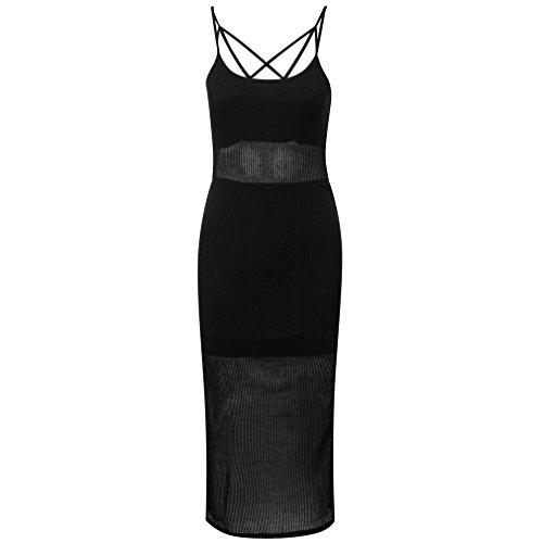 Dome Kleid Damen Play Maxi Fifi in Trägerkleid Träger Sommer Killstar Pentagramm Schwarz Form Fux 0xUwFxE