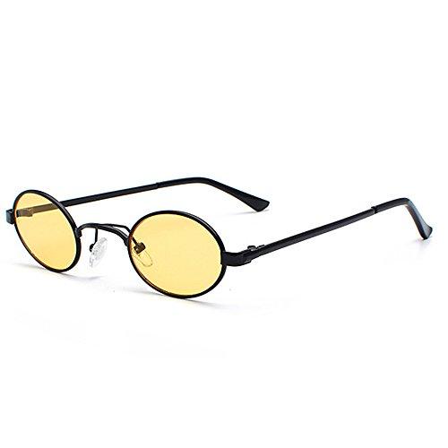Steam Oval Retro Glasses Female Male yellow Brand For Women Round Small Vintage Sun Punk Ladies Sunglasses Fashion Designer Men H5qdq1wP