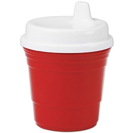 Durable Plastic 8 Oz Red Solo Cup Baby Sippy Cup With Snug Spill Proof Lid