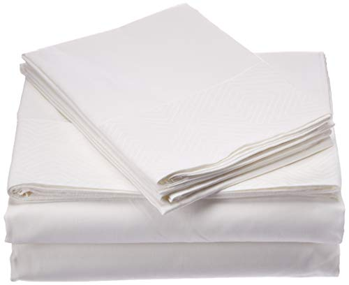 Natural Comfort HS300SS-EDGM-WH-Q Premier Hotel Select Sheet Set, Queen, ()
