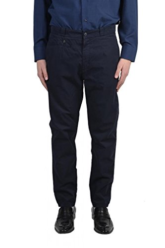 Dolce & Gabbana Men's Dark Blue Casual Pants US 36 IT - Dark Gabbana Blue Dolce And