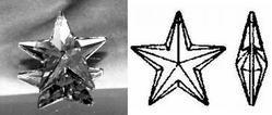 (Swarovski Strass Star Crystal Prism #6714-20)