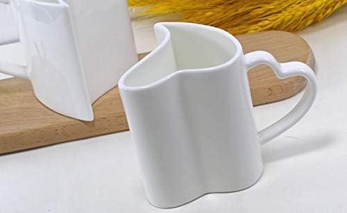 LEIXNDPLBO 300ML 2pcs / Lot Fine Bone China Lover Taza térmica ...